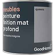 Peinture de rénovation meubles GoodHome gris Queens mat profond 0,5L