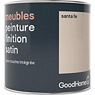 Peinture de rénovation meubles GoodHome beige Santa Fe satin 0,5L
