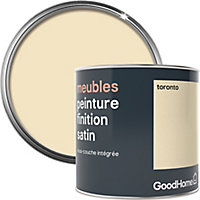 Peinture de rénovation meubles GoodHome blanc Toronto satin 0,5L