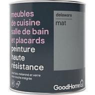 Peinture haute résistance meubles de cuisine salle de bain et placards GoodHome gris Delaware mat 0,75L