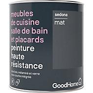 Peinture haute résistance meubles de cuisine salle de bain et placards GoodHome gris Sedona mat 0,75L