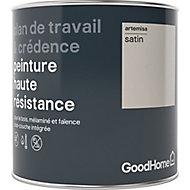 Peinture haute résistance plan de travail et crédence GoodHome beige Artemisa satin 0,75L