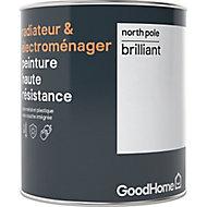 Peinture haute résistance radiateur et électroménager GoodHome blanc North Pole brillant 0,75L