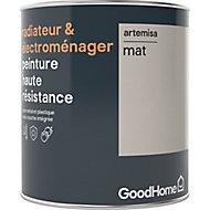 Peinture haute résistance radiateur et électroménager GoodHome beige Artemisa mat 0,75L