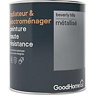 Peinture haute résistance radiateur et électroménager GoodHome argent Beverly Hills métallisé 0,75L