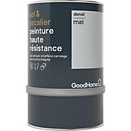 Peinture haute résistance sol et escalier GoodHome gris Denali mat 0,75L