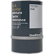 Peinture haute résistance sol et escalier GoodHome gris New Haven mat 0,75L
