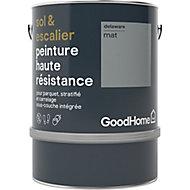 Peinture haute résistance sol et escalier GoodHome gris Delaware mat 2L