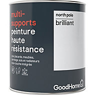 Peinture haute résistance multi-supports GoodHome blanc North Pole brillant 0,75L