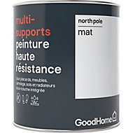Peinture haute résistance multi-supports GoodHome blanc North Pole mat 0,75L