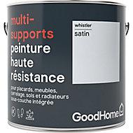 Peinture haute résistance multi-supports GoodHome gris Whistler satin 2L