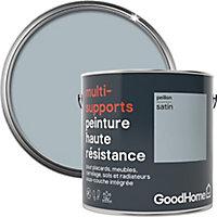 Peinture haute résistance multi-supports GoodHome bleu Peillon satin 2L