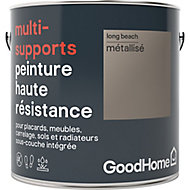 Peinture haute résistance multi-supports GoodHome or Long Beach métallisé 2L