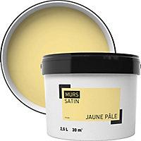 Peinture murale jaune pale satin 2,5L