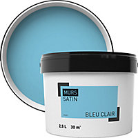Peinture murale bleu clair satin 2,5L