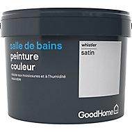 Peinture salle de bains GoodHome blanc Whistler satin 2,5L