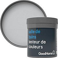 Testeur peinture salle de bains GoodHome gris Melville satin 50ml