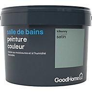 Peinture salle de bains GoodHome vert Kilkenny satin 2,5L