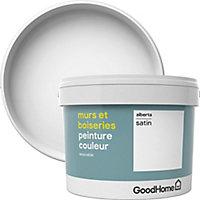 Peinture murs et boiseries GoodHome blanc Alberta satin 2,5L