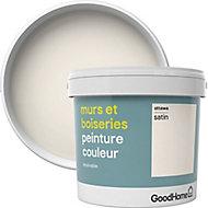 Peinture murs et boiseries GoodHome blanc Ottawa satin 5L