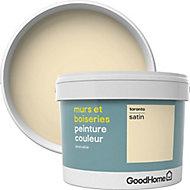 Peinture murs et boiseries GoodHome blanc Toronto satin 2,5L