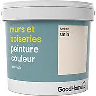 Peinture murs et boiseries GoodHome blanc Juneau satin 5L