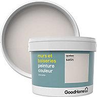 Peinture murs et boiseries GoodHome blanc Québec satin 2,5L