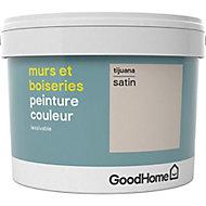 Peinture murs et boiseries GoodHome beige Tijuana satin 2,5L
