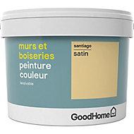 Peinture murs et boiseries GoodHome jaune Santiago satin 2,5L