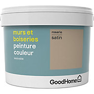 Peinture murs et boiseries GoodHome beige Rosario satin 2,5L
