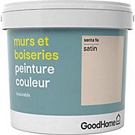 Peinture murs et boiseries GoodHome beige Sante Fe satin 5L