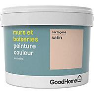 Peinture murs et boiseries GoodHome beige Cartagena satin 2,5L