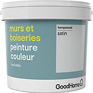 Peinture murs et boiseries GoodHome gris Hempstead satin 5L