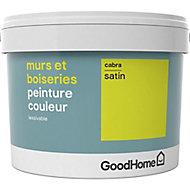 Peinture murs et boiseries GoodHome vert Cabra satin 2,5L