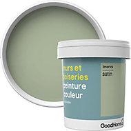 Peinture murs et boiseries GoodHome vert Limerick satin 0,75L