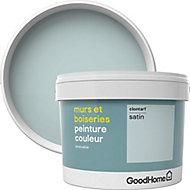 Peinture murs et boiseries GoodHome vert Clontarf satin 2,5L