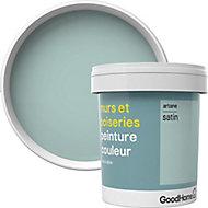 Peinture murs et boiseries GoodHome vert Artane satin 0,75L