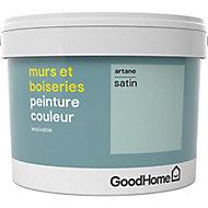Peinture murs et boiseries GoodHome vert Artane satin 2,5L