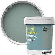 Peinture murs et boiseries GoodHome vert Kilkenny satin 0,75L
