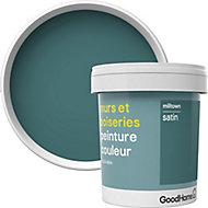 Peinture murs et boiseries GoodHome vert Milltown satin 0,75L