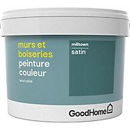 Peinture murs et boiseries GoodHome vert Milltown satin 2,5L