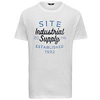 T-shirt imprimé blanc Site taille XL