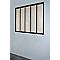 Verrière 5 vitrages acier Industrial noir 135 x h.105 cm