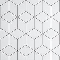Crédence de cuisine GoodHome Nepeta géométrique blanc l. 60 cm x H. 180 cm x Ep. 3 mm