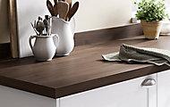 Plan de travail en stratifié aspect bois foncé GoodHome Kala 300 cm x 62 cm x ép. 3.8 cm