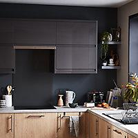 Porte de meuble de cuisine GoodHome Garcinia Anthracite l. 59.7 cm x H. 72.3 cm