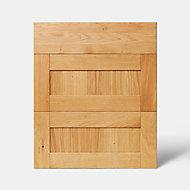 Façade de cuisine 1 tiroir et 2 casseroliers GoodHome Verbena Naturel l. 59.7 cm x H. 71.5 cm