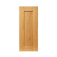 Porte de meuble de cuisine GoodHome Verbena Naturel l. 59.7 cm x H. 45.3 cm