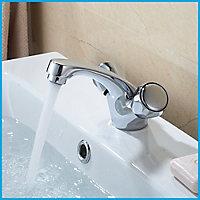 Mélangeur de lavabo chromé Calp GoodHome