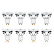 8 ampoules LED GU10 spot Diall 4,5W=50W blanc neutre